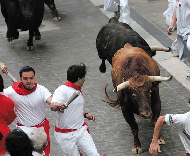 Balcony Spots - The Running of the Bulls